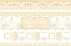 画像2: ☆新作☆[ガラス用]☆メタリックゴールド☆Victorian Lace
