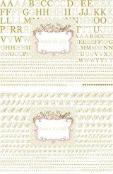 A4サイズ2枚☆メタリックゴールド転写紙☆アルファベット(オールドレイver)